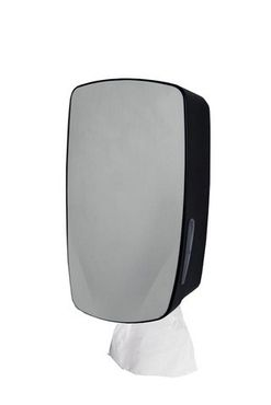 PlastiQline Exclusive Mini paper towel dispenser made of black stainless steel for wall mounting