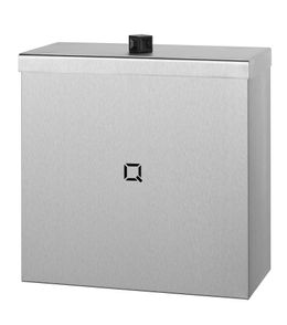 Qbic-line waste bin closed available in 9L, 30L and 85L made of stainless steel – Bild 1