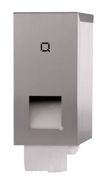 Qbic.Line toilet paper dispenser for 2 standard rolls