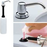 Bobrick manual soap dispenser for lavatory mounting refilling from above – Bild 3