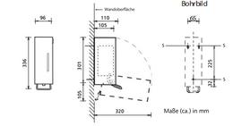 BOBRICK Patronen-Schaumseifenspender aus Edelstahl matt geschliffen 0,5L-1L – Bild 3