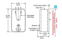 BOBRICK B-2111 soap dispenser vertical 1,2 L stainless steel satin finish – Bild 2