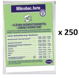 Hartmann Mikrobac® forte 250 x Dosierbeutel mit je 20 ml zur Flächendesinfektion