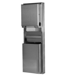 Bobrick 39619 recessed convertible paper towel dispenser and waste receptacle – Bild 1