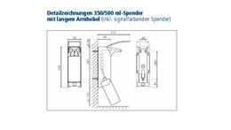 Gelber Metallspender mit langem Armhebel 22,5 cm – Bild 2