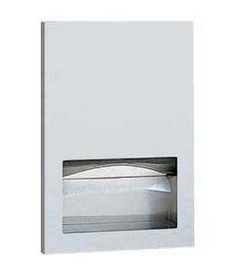 Bobrick stainless steel recessed paper towel dispenser B-35903 satin brushed