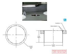 Bobrick B-529 Countertop mounted circular waste chute stainless steel – Bild 2