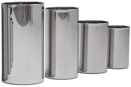 Graepel G-Line Pro-quality design wastebasket Pieno polished stainless steel 1.4016 – Bild 1