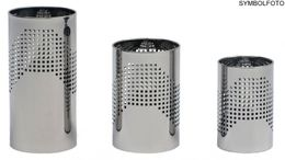 Graepel QUADROTTO paperbaskets made of chrome steel, painted black, perforated