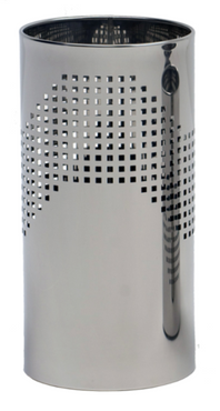 Graepel QUADROTTO umbrella stand made of stainless steel, perforated – Bild 1