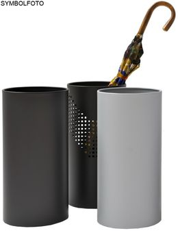 Graepel QUADROTTO umbrella stand made of chrome steel, painted black, perforated