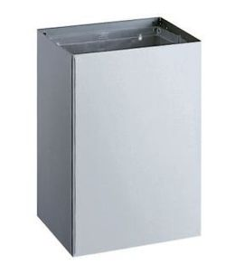 Bobrick B-275 waste bin 76L for surface mounting of satin brushed stainless steel