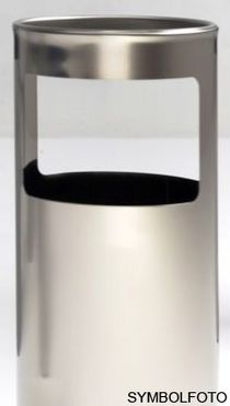 Graepel G-Line Pro Livigno ashtray made of brushed stainless steel, indoor use – Bild 1