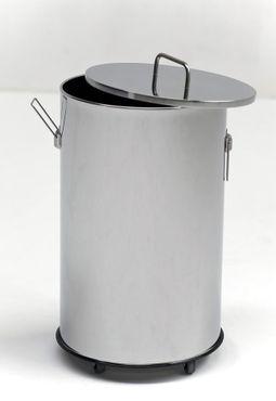 G-Line Pro robuster Abfalleimer Americanaesse aus poliertem Edelstahl 1.4016 – Bild 1