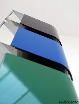 G-Line Pro Abfalleimer Ecobin aus poliertem Edelstahl 1.4301 Aluminiumdeckel Grün – Bild 3