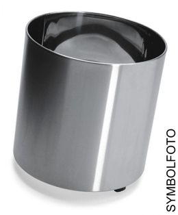 NAXOS 6 flower pots in different sizes (with wheels) made of brushed stainless steel, Graepel G-Line Pro – Bild 1