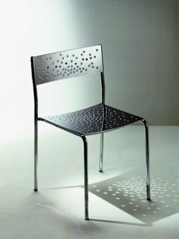 Graepel Tempesta hochwertiger Indoor Stuhl aus Edelstahl 1.4016 verchromt – Bild 1