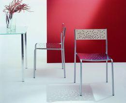 Graepel Tempesta hochwertiger Indoor Stuhl aus Edelstahl 1.4016 verchromt – Bild 2
