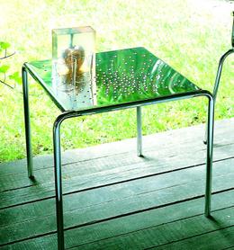 Graepel Tempesta erstklassiger Outdoor Tisch aus Edelstahl 1.4016 silber lackiert und behandelt – Bild 1