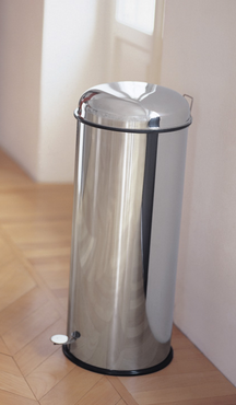 Graepel High Tech Bullet Pedal-operated bin in polished stainless steel – Bild 1