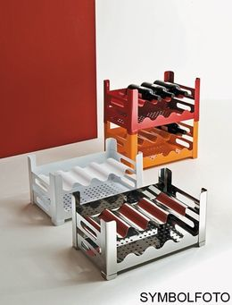 Graepel High Tech DRINK P.U.B. instant stackable bottle rack made of painted steel – Bild 1
