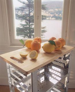 Graepel High Tech P.U.B. Kitchen Trolley aus Edelstahl mit Holzschneidebrett – Bild 3