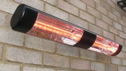 Heatlight black aluminium heater with infrared technology 3000w for outdoor use – Bild 1