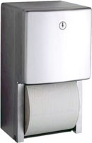 Bobrick B-4288 surface mounted multi roll toilet tissue dispenser of stainless steel – Bild 1