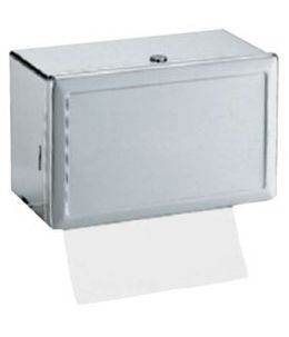 B-263 paper towel dispenser of satin brushed stainless steel with viewing window – Bild 1