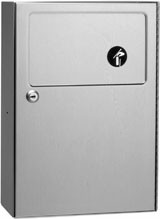 B-254 sanitary napkin disposal in satin brushed stainless steel 4,6l lockable – Bild 1
