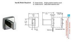 Bobrick B-670/7 stainless steel utillity hook satin brushed or polished finish – Bild 2