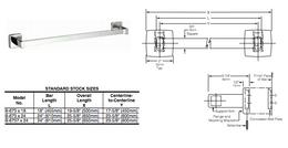 Bobrick B-6737x24 stainless steel surface mounted square towel bar satin brushed – Bild 2