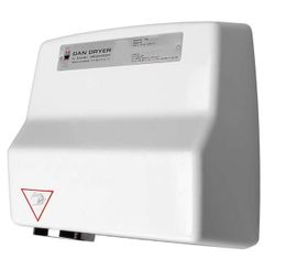 Dan Dryer hand dryer AE made of die-cast aluminium with 2360W and with IR sensor