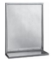 Bobrick B-292 Welded-Frame Mirror/ Shelf Combination