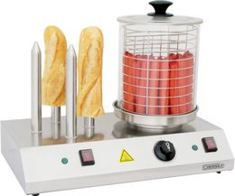 Casselin electric hot-dog machine in stainless steel 960W with 4 bread sticks