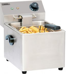Casselin electric deep fat fryer 8l in stainless steel - safety thermostat 3250W