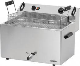 Casselin Gebäck-Fritteuse 16l aus Edelstahl 9000 Watt mit Sicherheitsthermostat