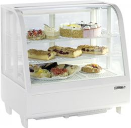 Casselin refrigerated display case 100l with double glazing and LED lighting 160W – Bild 1