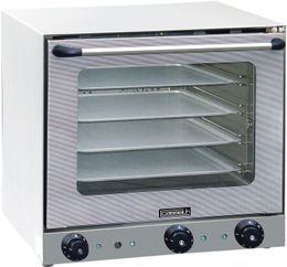 Casselin convection oven with humidity - stainless steel - with double glazed door