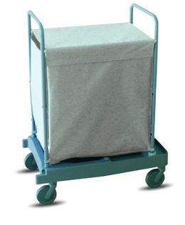 IPC Euromop laundry trolley with 200 liters capacity - with 4 wheels and 2 brakes