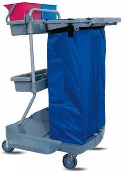 IPC Euromop Top Evolution V cleaning trolley - polypropylene base with 4 castors