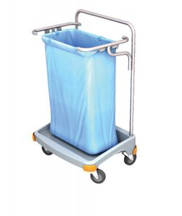 Splast single plastic waste trolley 120l - available with or without lid – Bild 1