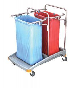 Splast Doppel-Müllentsorgungswagen aus Kunststoff 2 x 120l - Deckel ist optional – Bild 1