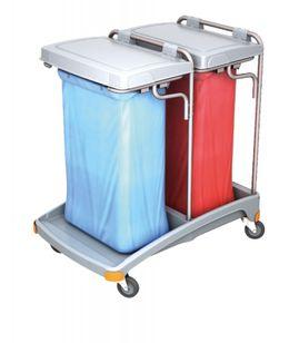 Splast Doppel-Müllentsorgungswagen aus Kunststoff 2 x 120l - Deckel ist optional – Bild 2