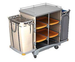 Splast Hotelreinigungswagen mit Leinensack 125l und Müllsackhalter 125l + Abdeckung