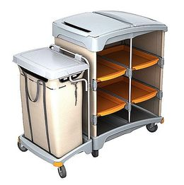 Splast plastic hotel trolley with shelf and linen bag 120l - lid is optional – Bild 2