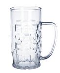 20er Set Bier-Krug 0,5l SAN Glasklar Kunststoff Spülmaschinen fest und lebensmittelecht