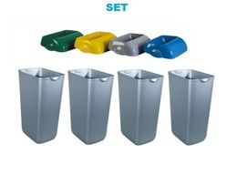 SET Marplast Hidden 4x waste bin MP742 made of plastic in satin 23l + 4x lid – Bild 1