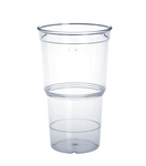 20 piece ECO Cup crystal clear 0,4l of plastic stackable