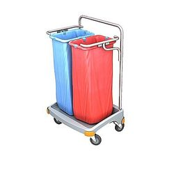 Splast double plastic waste trolley 2 x 70l - lid is an option – Bild 1